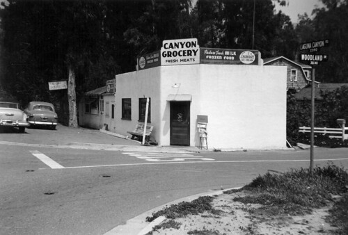 Canyon Grocery, Laguna Canyon, 1957