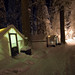 Yosemite cabin at night by Hans Rakers