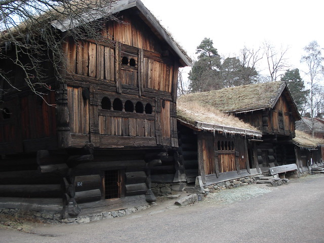 Norway oslo traditional wooden houses in bygdoy flickr for Norway wooden houses