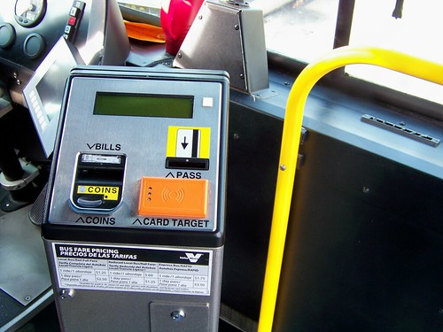 Valley Metro bus fare box