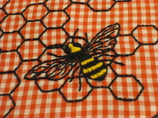 hexagons and bee 004
