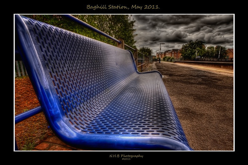 uk blue england nature station clouds photoshop canon bench platform lamps pontefract topaz 10mm efs1022mm photomatix 40d baghill doublyniceshot worldhdr mygearandme ringexcellence nhbphotography