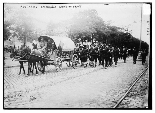 Bulgarian ambulance going to front  (LOC)