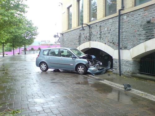 Temple Quay car crash