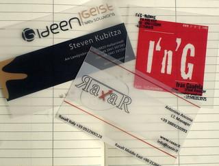 Transparente Visitenkarten Aus Pvc Translucent Plastic B