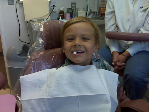 Alex at the dentist