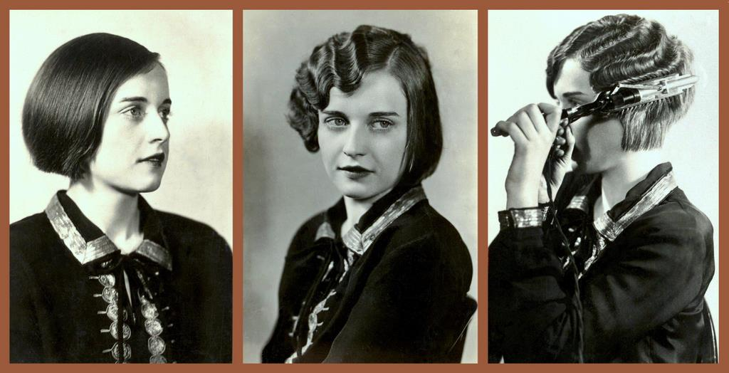 Flapper Hair Style: THE ROARING 20s -- HOW THE FLAPPER GIRLS DID IT -- 1, 2, 3