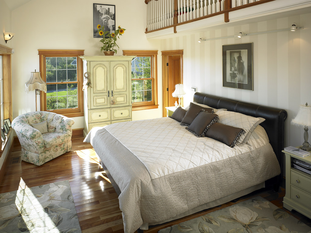 39280 Master Bedroom with loft in Cape Cod style Lindal home