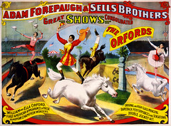 The Orfords, poster for Forepaugh & Sells Brothers, ca. 1897