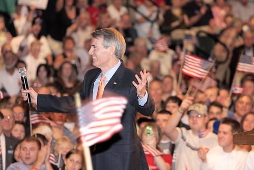 Rob Portman Speaks At Gov. Palin Announcement