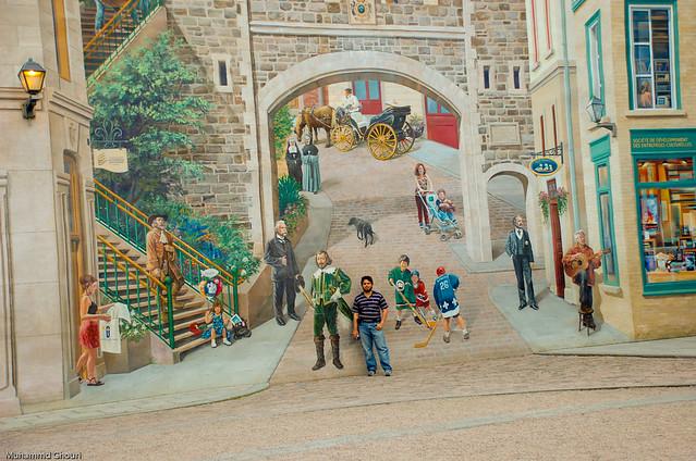 Quebec mural flickr photo sharing for Mural quebec city