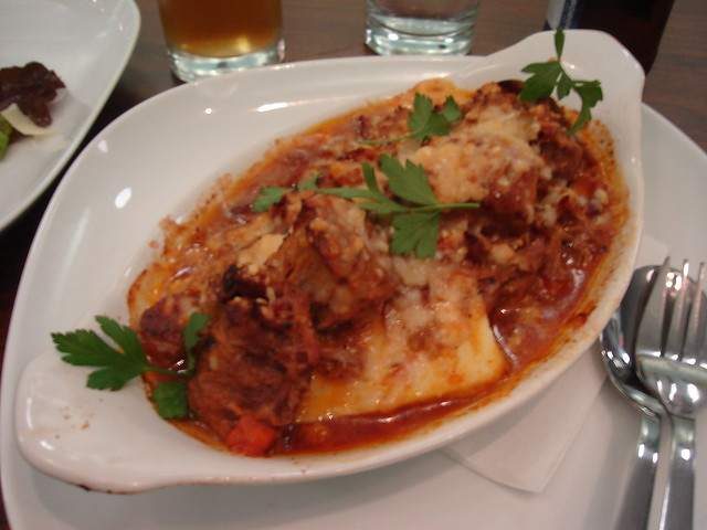 "Toast: Pork Ragu with Semolina ""gnocchi"" 