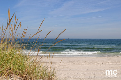 ocean blue sky sun beach grass sand waves dunes scenic islandbeachstatepark beachdunesgrassislandbeachstateparksunblueskyoceanwav