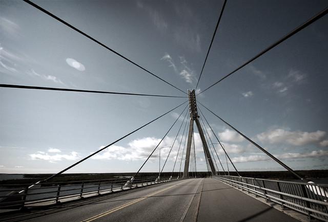 El puente para llegar a Kvarken: el Replot.