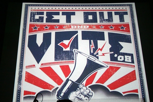 """Get Out and Vote"" Concert in Richmond, Virginia, October 2008 by Mike Lynaugh, 2008."