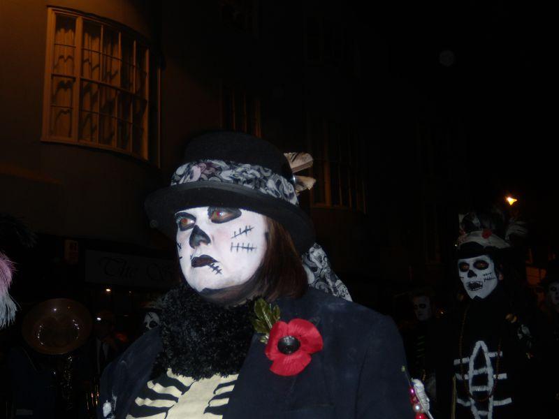 Zombies Lewes circular via Rodmell Lewes bonfire night