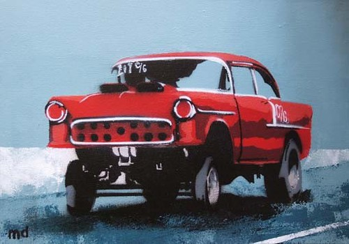 red '55 chevy c-gasser