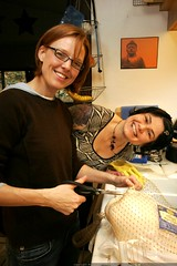 kat and rachel prepare to autopsy a turkey on thanks…