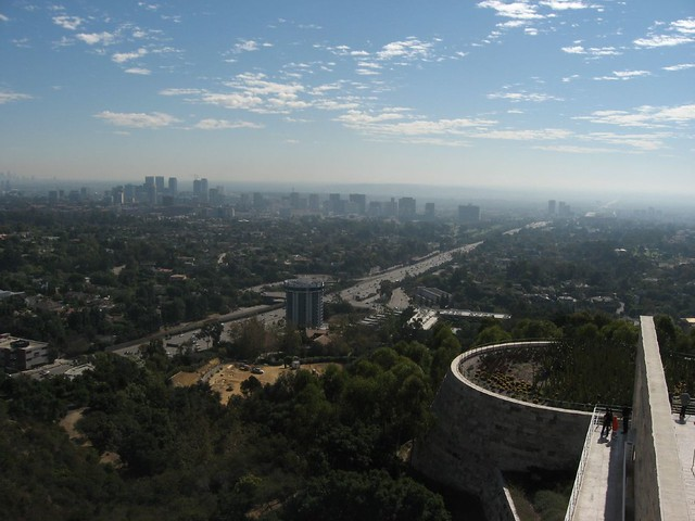 View of Wilshire Corridor, Getty Center, Los Angeles, California