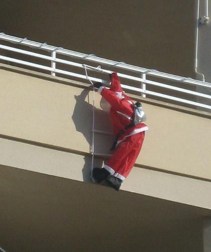 Papá Noel trepador