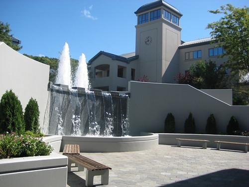 fountain courtyard patterson renovation bethel joshliba