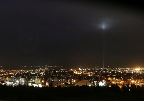 Night view on Reykjavík