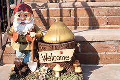 garden gnome, temple, lawn ornament, statue,