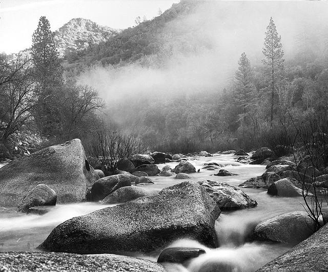 Fog and stream ii yosemite national park usa