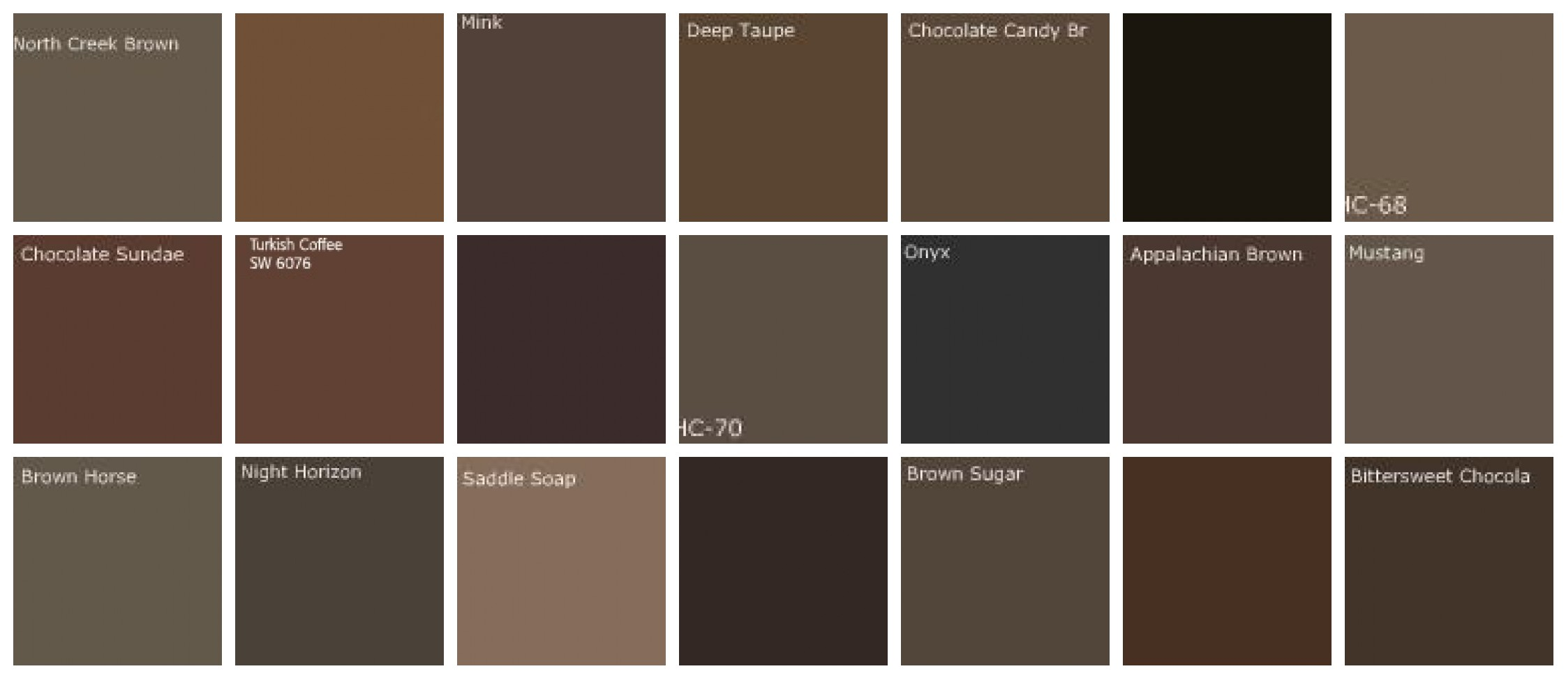 Fluidr dark brown paint colors designers 39 favorite - Chocolate brown paint color ...