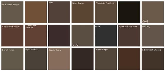 Dark brown paint colors designers 39 favorite brands colo