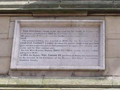 Photo of Victoria, Edward VII, and Guildhall, Lichfield stone plaque