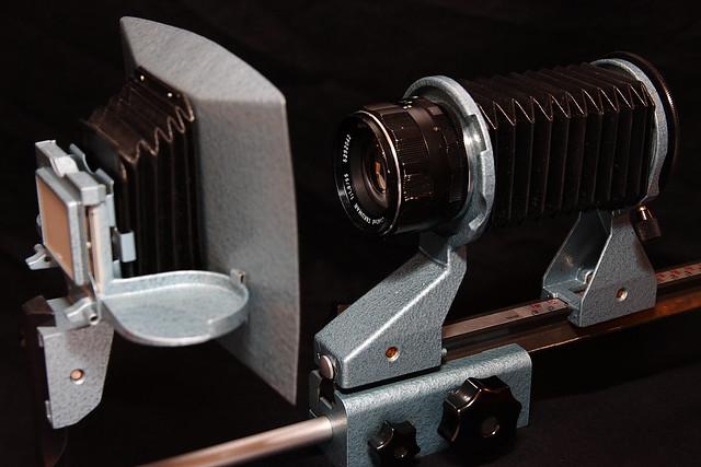 Praktica Balgengerät mit Pentax Optik