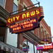 Neon signs, Mansfield, Ohio - City News and Coney Island Diner