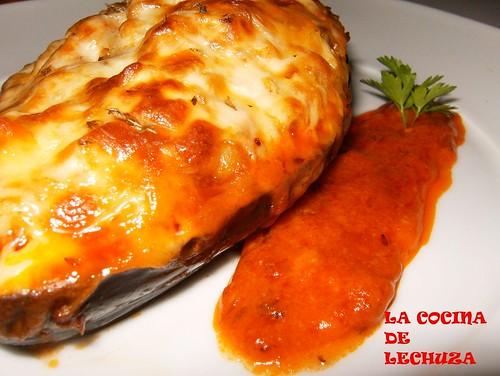 Berenjenas rellenas de carne receta por pilar lechuza - Berenjena rellena de carne ...