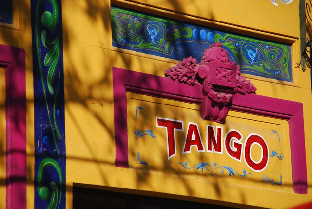 Header of tango bar