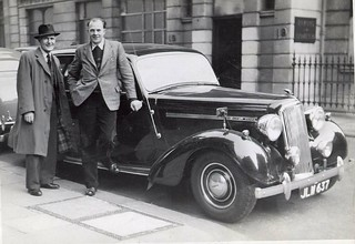Metropolitan Police 'Q' Car 1956 Outside Savile Row Police Station ('CD') London, UK.