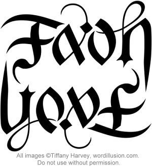Ambigram Love Tattoo on Ambigrams Tattoos Love   Hawaii Dermatology