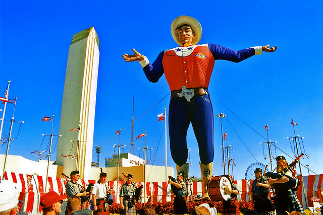 Bagpipe Band under Big Tex, State Fair of Texas