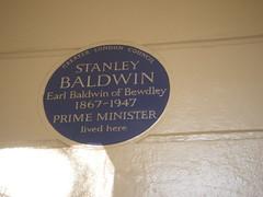 Photo of Stanley Baldwin blue plaque