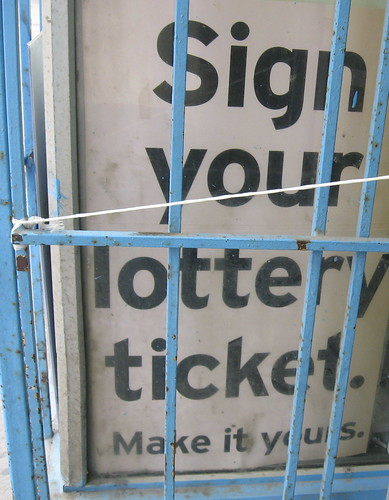 sign your lottery ticket (make it yours)