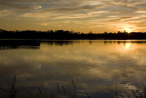 sunset lake water canon eos october michigan calm 40d