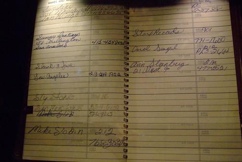 Jimi Hendrix's address book