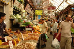 Machane Yehuda market in Jerusalem by Alexander Smolianitski, on Flickr