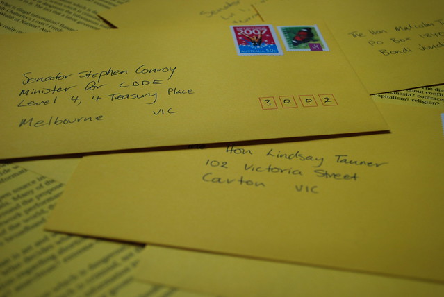 Letters to Aussie MPs - No Clean Feed Please.