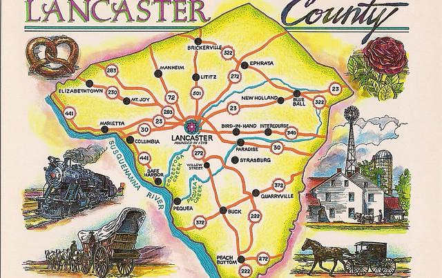 Lancaster County Pa Map Car Interior Design