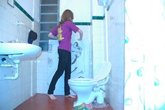 toilet, plumbing fixture, cleanliness, blue,
