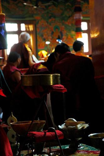 She Dances for Me! Vajrayogini Altar, Sakya Lamdre, Tharlam Monastery of Tibetan Buddhism, Boudha, Kathmandu, Nepal by Wonderlane