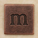 Copper Square Letter m