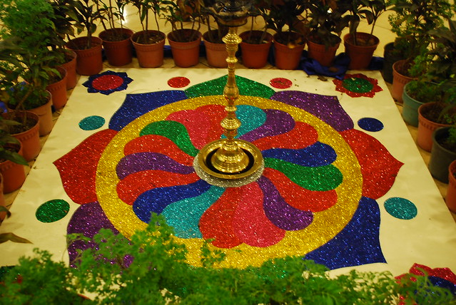 Diwali festivals of lights floor decoration flickr photo sharing for Photo decoration