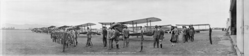 HRH Duke of York inspecting Sockburn Aerodrome, 15 March 1927